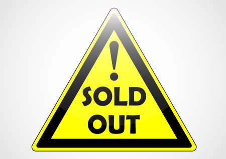 sold out triangle custom sign