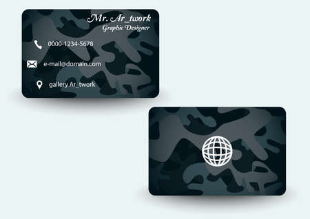 army pattern business card