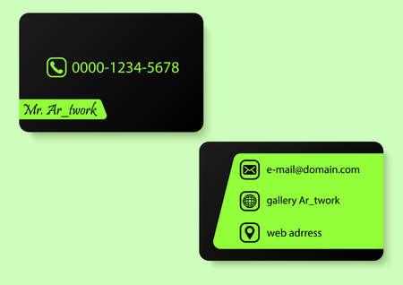 green elegant color business card 向量圖像