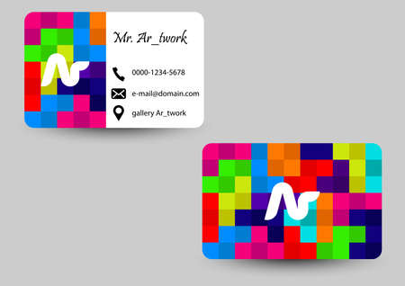 square colors business card