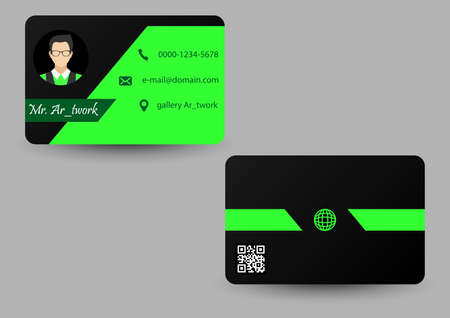 green elegant color business card
