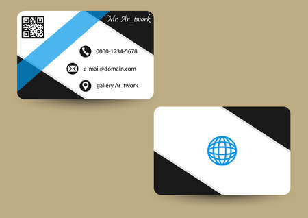 business card white clean Vettoriali