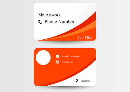 orange graphics business card