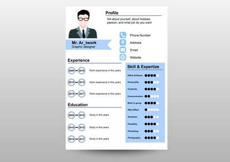 resume template papers print