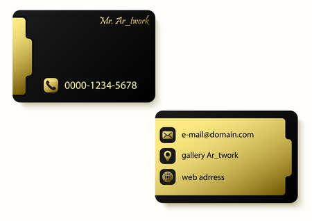 golden colors business card