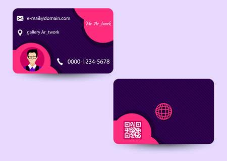 pink cute business card