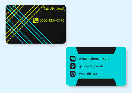 stripe line business card