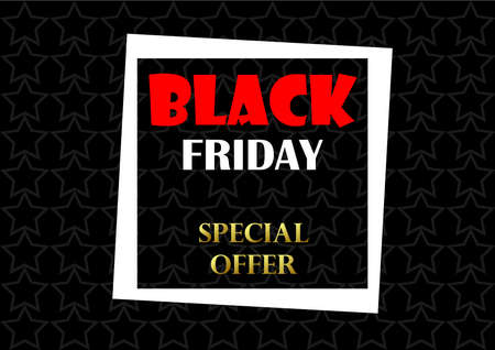 Black Friday frame banner isolated on a white background.