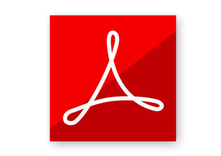 adobe reader computer software 版權商用圖片 - 145917517