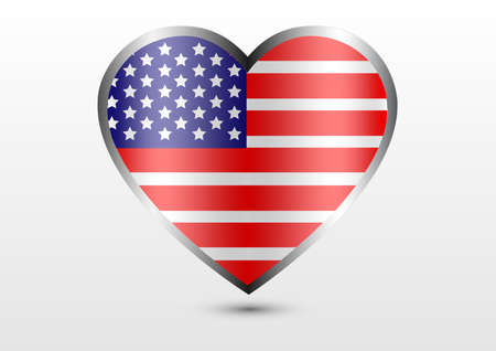 love country united states flag Illustration