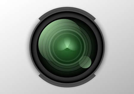 dslr lens realistic object Ilustrace