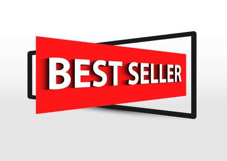 best seller production banner Ilustrace