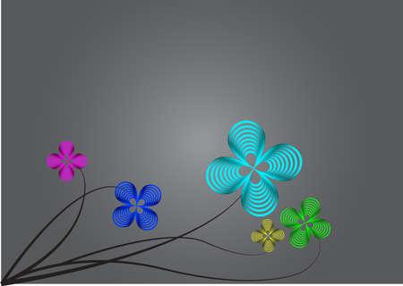 flower draw metallic background
