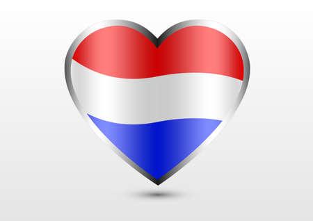 Netherland national flag hearts