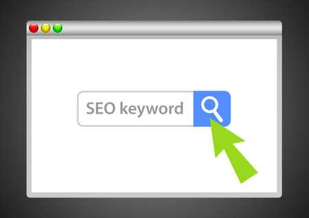 Search engine organizer illustration Ilustrace