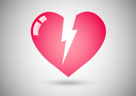 Broken hearts logo concept. Vector illustration.