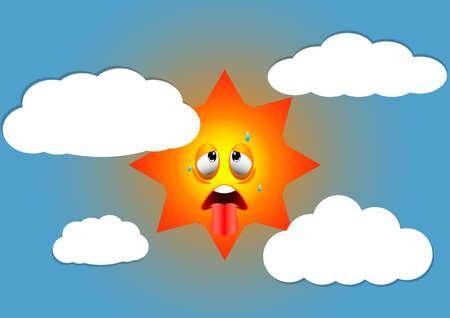 hot summer weather illustration Ilustrace