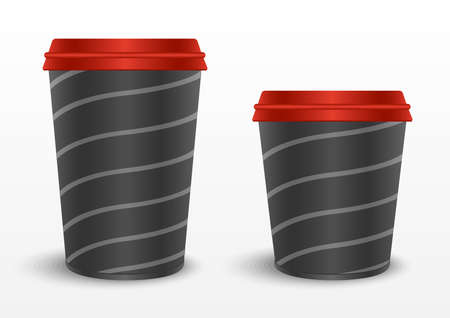 paper cup draw template Ilustrace