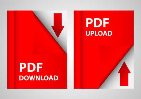 pdf download and upload data Illustration