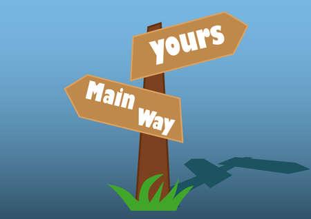 illustrations of direction life mindset
