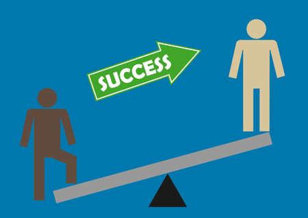 see saw success illustration