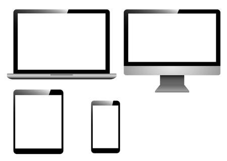 device blank screen template Ilustrace