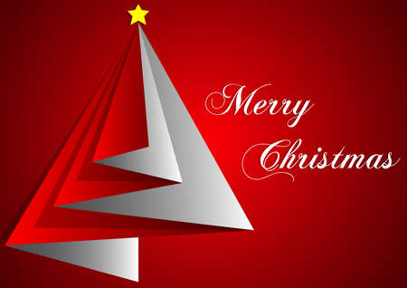 merry christmas background paper illustration red color