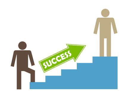 success illustration growing up