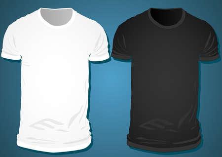 t-shirts template blank illustration Ilustrace