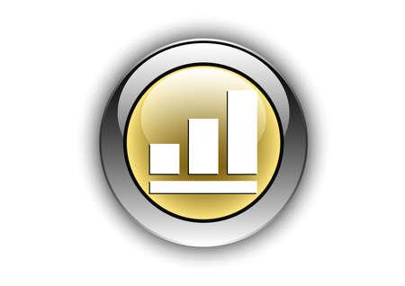 diagram icon luminosity button Ilustrace