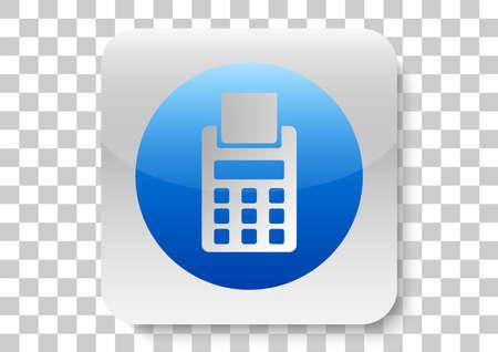 bill payment mobile app button Ilustrace