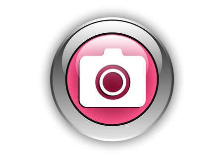 camera icon luminosity button Ilustrace