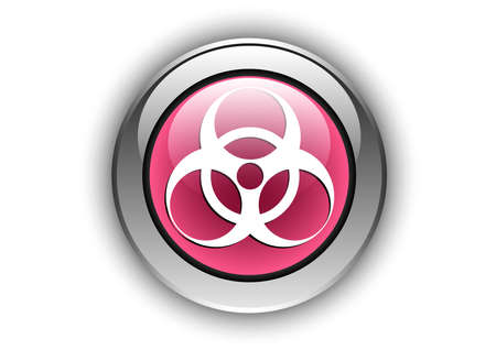 biological hazard icon luminosity button