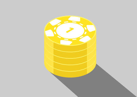 casino isometric coins 1k Ilustrace
