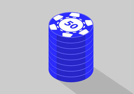 casino isometric coins 50