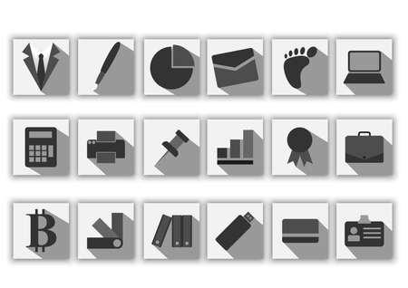 business flat black icon Ilustrace
