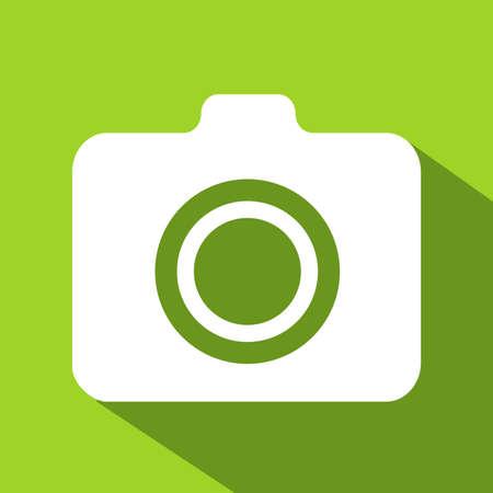camera icon flat color Ilustrace