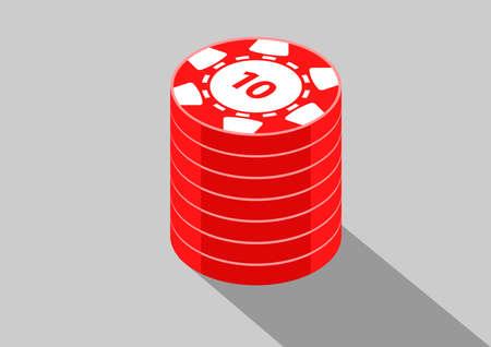 casino isometric coins 10  イラスト・ベクター素材