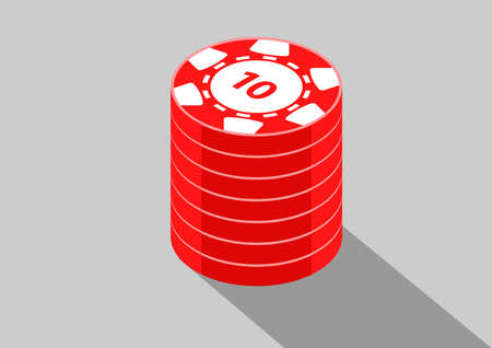 casino isometric coins 10 向量圖像