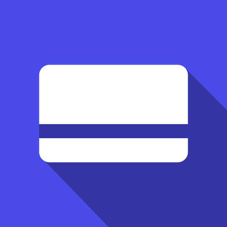 payment card icon flat color Ilustrace
