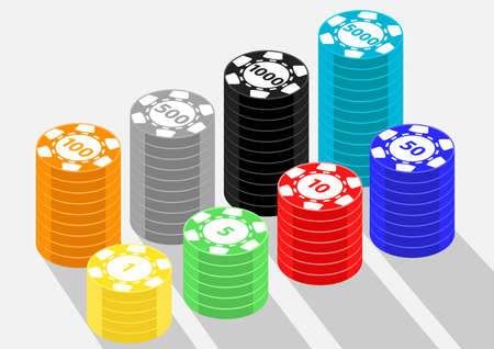 casino coin isometric object
