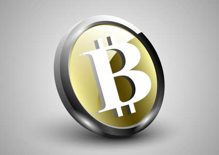 bitcoin 3d icon luminosity glare