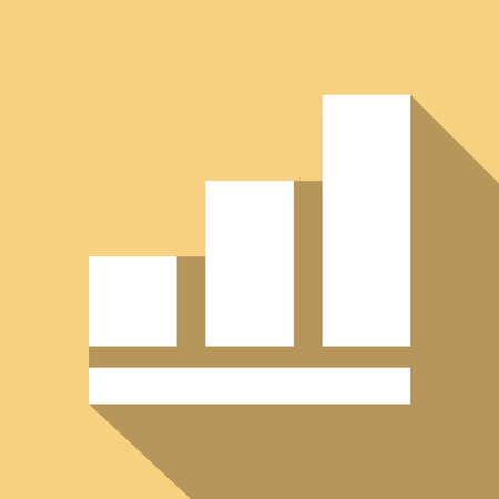 diagram icon flat color Ilustrace
