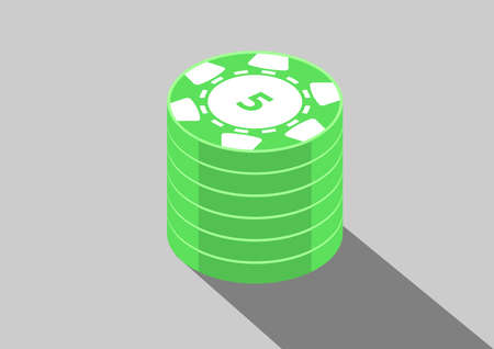 casino isometric coins 5