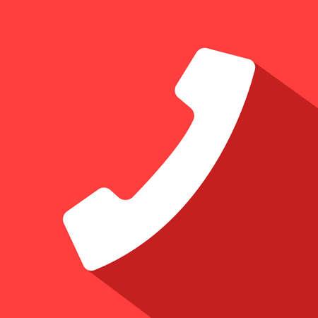 call flat icon color Illusztráció
