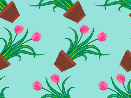 Tulip flower pattern background