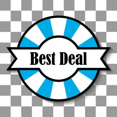 vector design of best deal badge