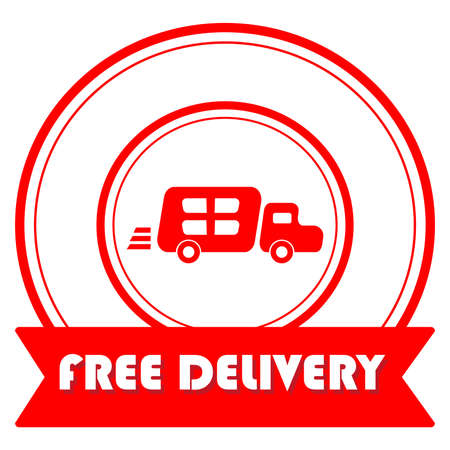 vector design of free delivery stamp