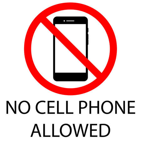 vector design of cellphone prohibition sign