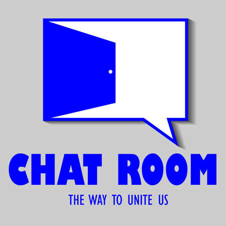 vector design of chat room badge